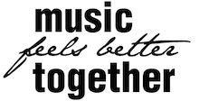 Music feels better together logo